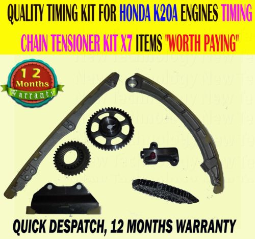 Honda Accord Crv 2.0 K20A/A4/A6/Z 2001-2008 Timing Chain Tensioner Slider Kit X5