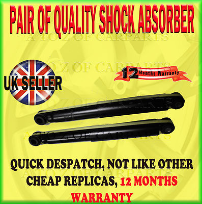 For Isuzu Trooper Big Horn Bighorn 3.0 3.1 3.2 3.5 91-06 Rear Shock Absorber Pair