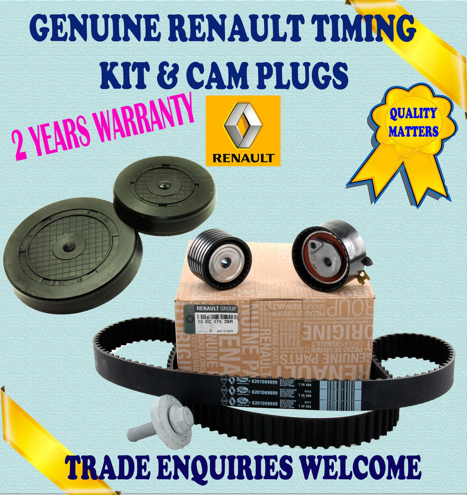 For Renault Modus Thalia Twingo 16 14 16valve Timing Belt Tensioner Kit Plugs